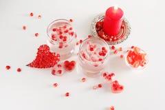 Ainda vida romântica Celebração do dia do ` s do Valentim de Saint Close-up Imagens de Stock Royalty Free