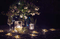 Ainda vida romântica com luz de vela Imagem de Stock Royalty Free