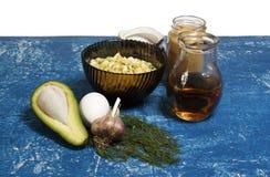 Ainda vida 1 Salada dos ovos e do abacate Fotografia de Stock