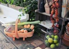 Ainda vida sazonal dos objetos da cozinha Imagens de Stock Royalty Free