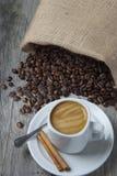 Ainda vida sobre o café. Imagem de Stock