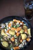 Ainda vida, tofu fritado e molho da carne de porco Foto de Stock Royalty Free