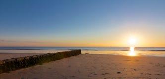 Aine rocheuse au coucher du soleil Photographie stock libre de droits