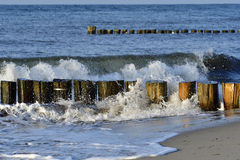 Aines et vagues Photo libre de droits