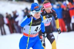 Aino-Kaisa Saarinen - ski sprint skier Royalty Free Stock Photo