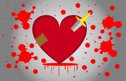 Ainsi coeur ainsi blessé Photos libres de droits