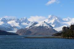 Ainsworthbaai en Marinelli-Gletsjer in Patagonië chili royalty-vrije stock afbeelding