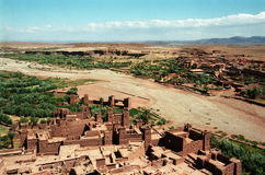 Aint Benhadou. Old Kasbah Aint Benhadou in Atlas mountains in Morocco, May 2008 Royalty Free Stock Images
