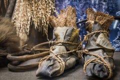 Ainu ботинки стоковая фотография rf