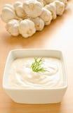 Aioli - salsa di aglio fotografia stock