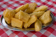 Aipim frito, typical Brazilian food. Aipim frito, fried cassava, is a very popular snack food in Brazil Royalty Free Stock Image
