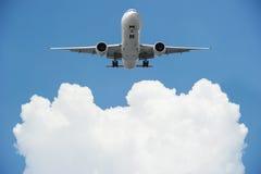Aiplane com espaço da cópia no céu Fotografia de Stock