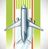 Aiplane na pista de decolagem do aeroporto Imagem de Stock