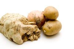 Aipo com batatas e cebola Fotos de Stock