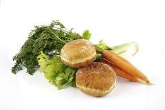 Aipo com cenouras e filhóses Fotografia de Stock