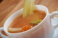 Aipo da galinha com sopa do arroz Imagens de Stock