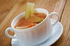 Aipo da galinha com sopa do arroz Fotos de Stock Royalty Free