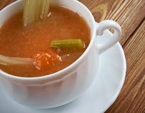 Aipo da galinha com sopa do arroz Fotografia de Stock