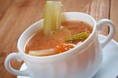Aipo da galinha com sopa do arroz Imagem de Stock Royalty Free