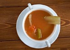 Aipo da galinha com sopa do arroz Foto de Stock
