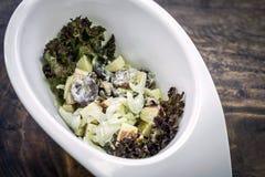 Aipo de Apple e salada da uva com molho do iogurte Imagens de Stock Royalty Free