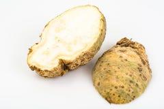Aipo de raiz, isolado no fundo branco Foto de Stock Royalty Free