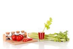 Aipo do suco de tomate Imagens de Stock Royalty Free