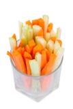 Aipo e cenoura verdes frescos Imagens de Stock