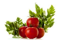 Aipo e tomates fotografia de stock royalty free