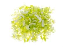 Aipo verde fresco cortado, isolado no fundo branco Foto de Stock Royalty Free