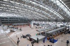 Aiport de Hamburgo - verificação Fotos de Stock