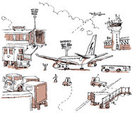 Aiport Doodles Stock Photo