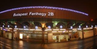 Aiport Ferihegy - décoration de Budapest de Noël Photographie stock libre de droits