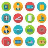 Aiport icon set stock illustration