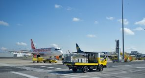 Aiport Lisbon aiport service royalty free stock photos