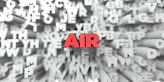AIR - Κόκκινο κείμενο στο υπόβαθρο τυπογραφίας - τρισδιάστατο δικαίωμα ελεύθερη εικόνα αποθεμάτων Στοκ Εικόνα