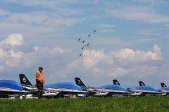 Air14帕耶讷瑞士airshow 免版税库存照片