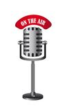 On the air. Old microphone isolated, on the air. vector illustration Stock Photo