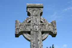 In the air. Very old celtic cross and an irish sky Royalty Free Stock Images