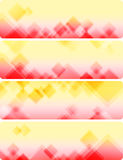 Air abstract backgrounds. Four banners. Vector.  EPS 10 Royalty Free Stock Image