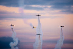 Air acrobacy Royalty Free Stock Images