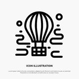 Air, Airdrop, tour, travel, balloon Line Icon Vector vector illustration