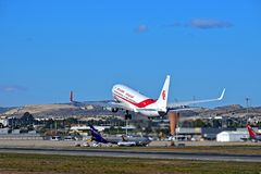 Air Algerie Plane Lifting Off From Alicante Airport Stock Photography