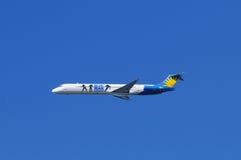 Air Allegiant avec le logo de panneau-réclame Photo libre de droits