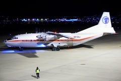 Air Alliance Antonov An-12BK à Stuttgart Photographie stock libre de droits
