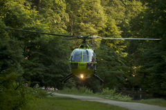 Air Ambulance Action in Bristol Oldbury Court Park Stock Images