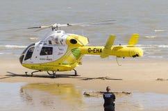 Air Ambulance on the beach Royalty Free Stock Photo