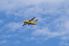 Air ambulance dornier do 328 jet, adac. Air ambulance jetliner dornier do 328 jet, adac. image is shot in the airspace over ixia in rhodes Stock Photos