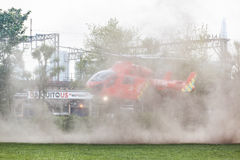Air ambulance helicopter in London Stock Images