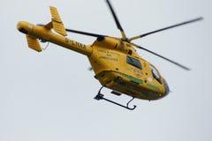 Air Ambulance helicopter ob hospital landing pad Royalty Free Stock Image